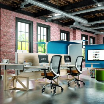 Office design plan for technology-based workspaces