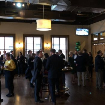 Employees and friends gathered at event hosted by OstermanCron